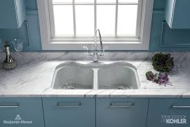 Blue Kitchen Sink Dual Kitchen Sink Contemporary Kitchen Benjamin