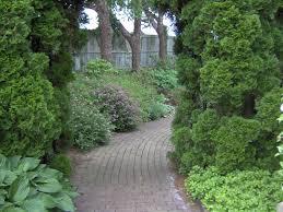 lawn u0026 garden curved brick path garden design idea fascinating