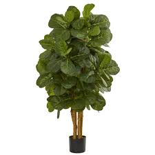artificial decorative trees for the home nearly natural 4 in fiddle leaf fig artificial tree 5490 the