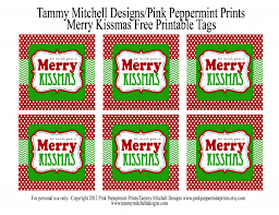 freebie free printable tag we wish you a merry kissmas pink