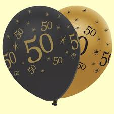 50th birthday balloons 50th black gold balloons pack of 6 party wizard