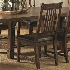 Distressed Dining Room Chairs Coaster Padima 6pc Dining Table Set In Distressed Cognac Finish