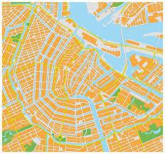 Map Of Amsterdam Amsterdam City Map U2014 Stock Vector Lesniewski 51327847