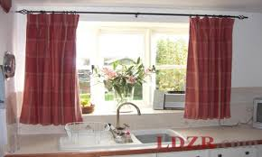 easy kitchen window curtains easy kitchen window treatment ideas