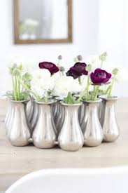 bud vase garland the cocktail tables will gold bud vases with ranunculus