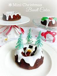 mini christmas bundt cakes u2013 the pink rose bakery