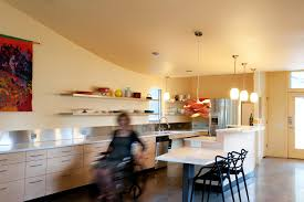 wheelchair accessible kitchen contemporary with faucets