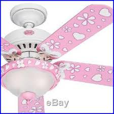 Pink Ceiling Fans by Hunter 44 White Flower Finish Ceiling Fan Swirled Marble With Pink