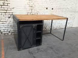 bureau industriel metal bois bureau rg bu005 giani desmet meubles indus bois métal et cuir