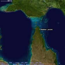australia satellite map ussher point queensland australia geography population map cities