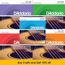 d addario ej16 phosphor bronze light acoustic guitar strings d addario phosphor bronze wound acoustic guitar strings ej15 ej16