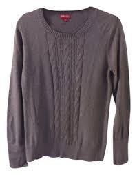 merona sweater merona gray sweater pullover size 12 l tradesy