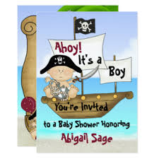 pirate baby shower invitations announcements zazzle