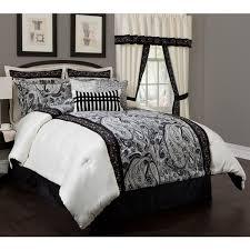 Black And White Bedroom Comforter Sets Black And White Paisley Bedding Sets Stunning Black And White