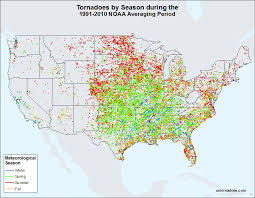 tornado map monthly tornado averages by state and region u s tornadoes
