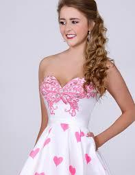 sweetheart white satin rhinestone zipper cocktail dress online