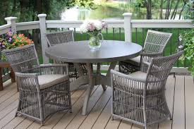 Outdoor Round Table Large Teak Wood Outdoor Round Dining Table With Composite Top