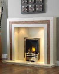 interior contemporary design of white fireplace surround shows