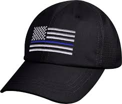 Subdued American Flag With Thin Blue Line Thin Blue Line Police Subdued Us Flag Mesh Back Low Profile Cap