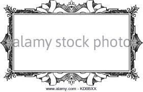 artistic ornamental frame label design stock vector