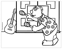 instrument coloring page