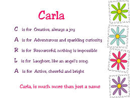 acrostic name poems for starting with letter c carla free