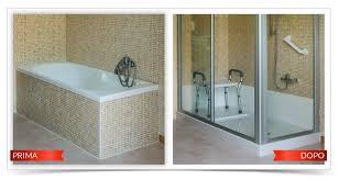 rimozione vasca da bagno da vasca a doccia tecnobad