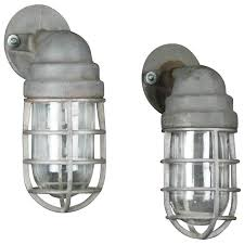 Industrial Wall Sconce 1940 Pair Of Crouse Hinds Industrial Wall Sconce Lighting For Sale
