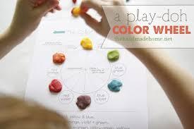 play doh color wheel art lesson