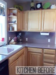 Painted Kitchen Cabinets Before And After Pictures How To Paint Cabinets And Add Hardware Kitchen Makeover