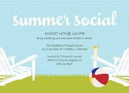 calm light blue summer invitation card design