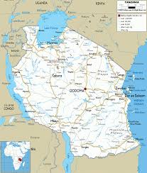Map Showing Equator Map Of Tanzania Vacations Travel Map Holiday