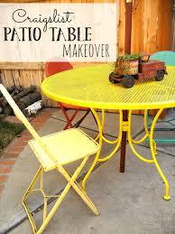 Craigslist Outdoor Patio Furniture by Craigslist Patio Table Makeover Little Vintage Cottage