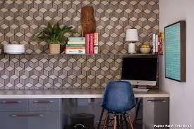 tapisserie bureau papier peint tete de lit with rétro bureau à domicile décoration