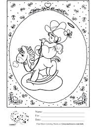 cowboy and cowgirl coloring pages virtren com