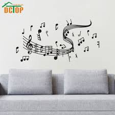 popular musical notes wall stickers buy cheap musical notes wall music notes wall decals vinyl art self adhesive wall stickers home decor living room decorations