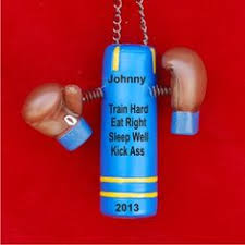 boxing gloves personalized ornament boxing