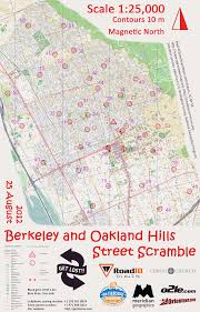 Berkeley Map Get Lost Running Racing