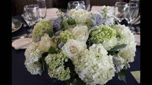 White Hydrangea Centerpiece by Green And White Hydrangea Centerpiece Youtube
