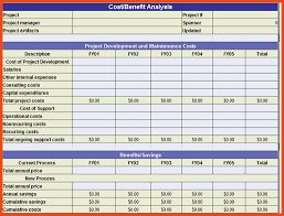 Cost Analysis Excel Template Cost Benefit Analysis Template Cost Benefit Analysis Template