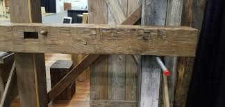 fireplace mantel reclaimed barn beams 8