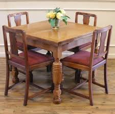 Oak Extending Dining Table And 4 Chairs Antique Round Oak Table With 4 Chairs Round Designs