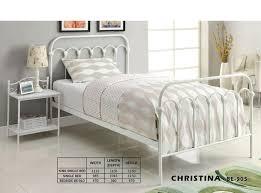 Single Beds Metal Frame King Single Metal Bed White Furniture Bedding