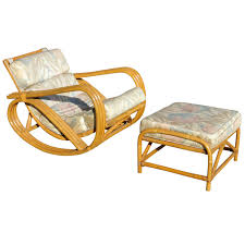 Rocking Chair Ottoman Furniture Glamorous Vintage Arm Chair With Ottoman Design Nu