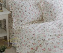 Flower Bed Sets Flower Ruffles Cotton Twill Princess Bedding Sets