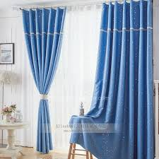 Blackout Curtains For Bedroom Bedroom Light Blue Blackout Curtains For Children With Printing