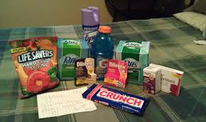 care package for sick person boyfriend sick get well basket tissues nyqull and dayquil cough