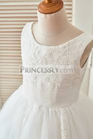 wedding flower dresses cupckae ivory lace tulle wedding flower dress with hair