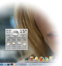 meteo sur mon bureau meteo affichée tous les jours sur un coin de mon ecran