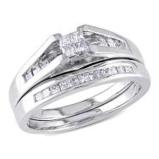 2 carat white gold engagement ring miadora 10k white gold 1 2 ct tw princess cut wedding